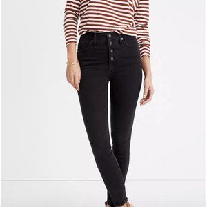 "Madewell 10"" High Skinny High Rise Button up jeans"